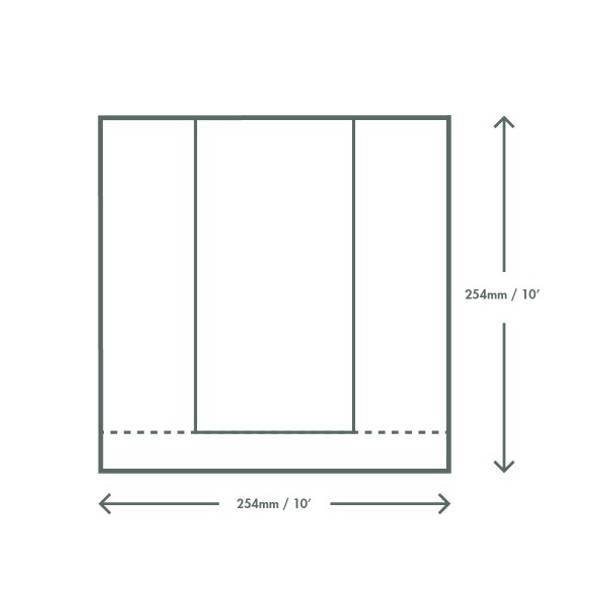 Paper Bag with Natureflex Window -  25.4cm Square - Kraft