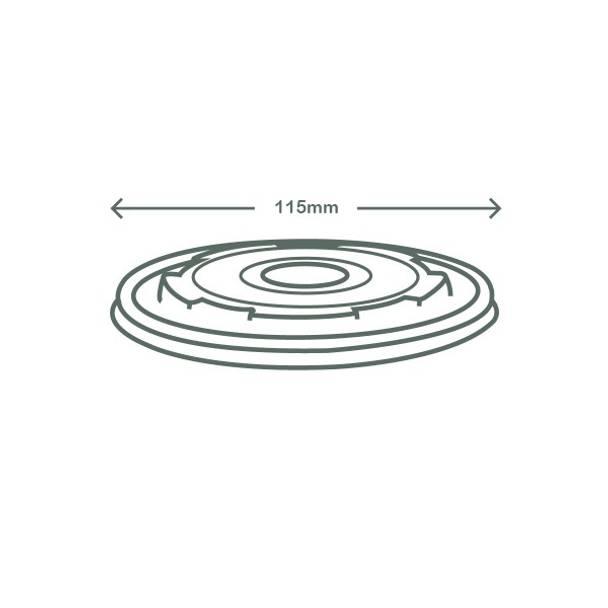 Flat CPLA Hot Lid - Opaque - 115 Series