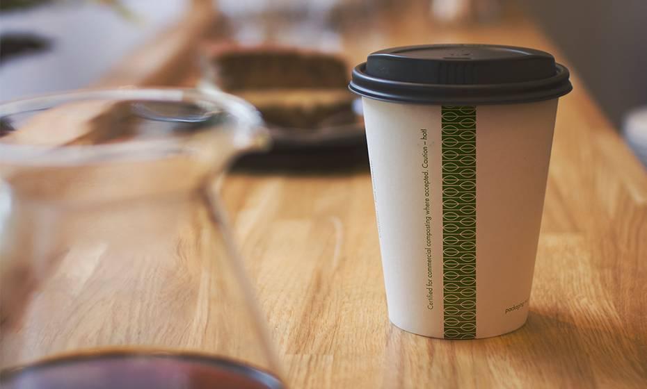 Large coffee cup lid - black - 89 Series