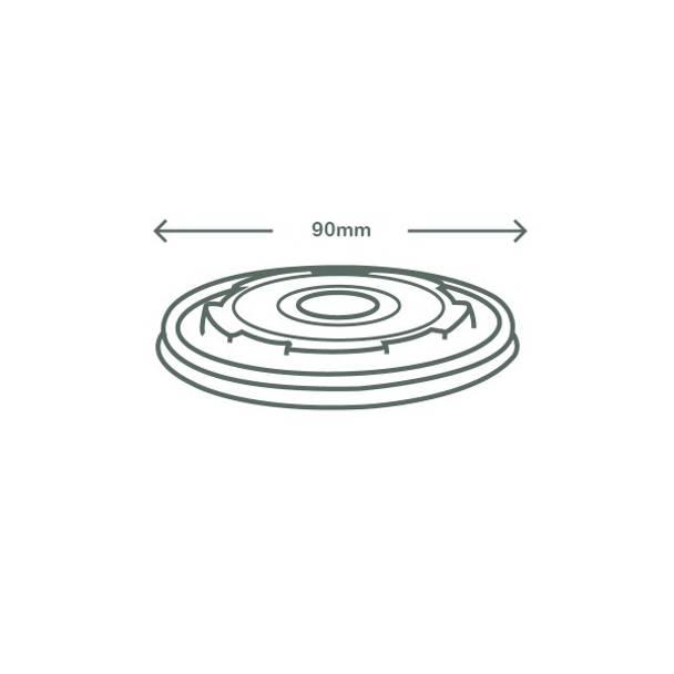 Flat CPLA Hot Lid - Opaque - 90 Series