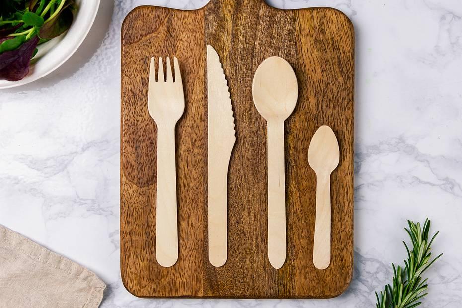 11cm mini wooden spoon