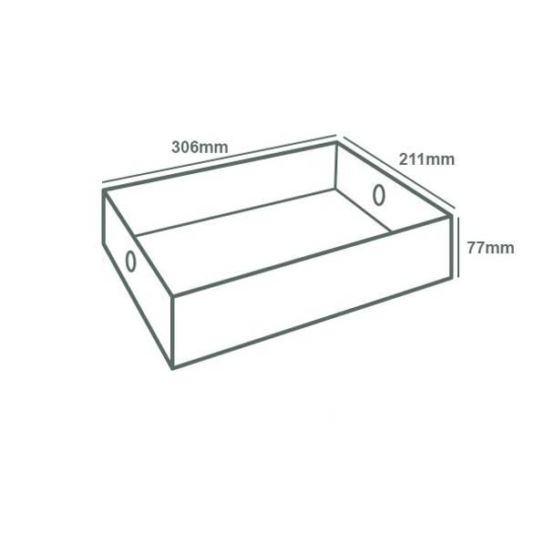 Platter Box Insert (Half of Large Platter Box)