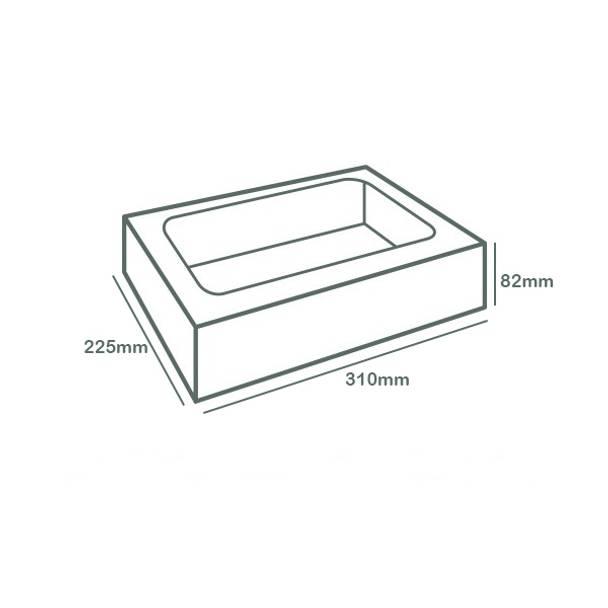 Regular Window Platter Box with Sliding Insert