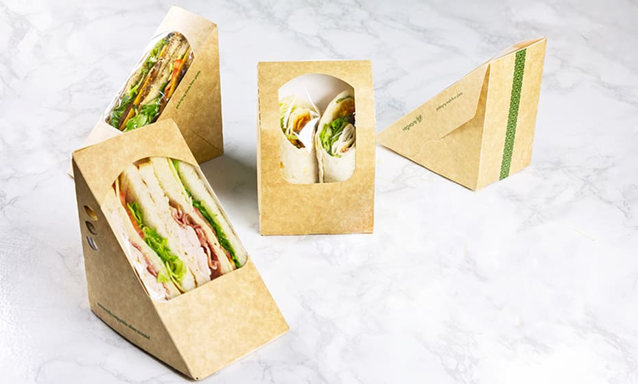 Medium Eco Sandwich Wedge - 75mm - Kraft
