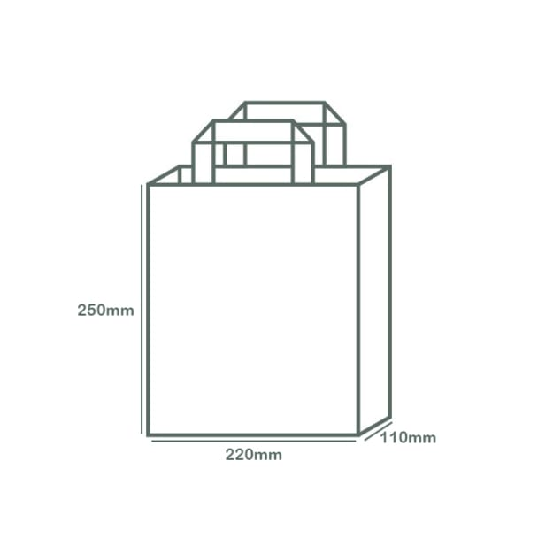 Medium Recycled Paper Carry Bag - Kraft Brown