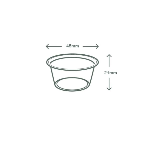 0.5oz (15ml) sauce pot - clear