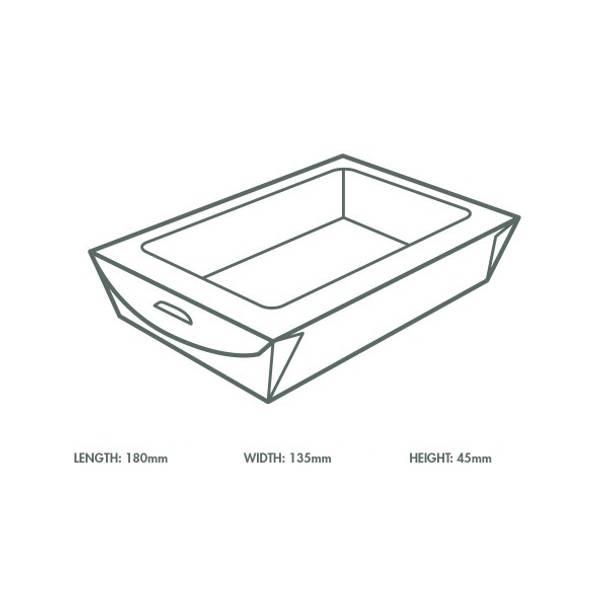 Large window box 1100ml (18 x 13.5 x 4.5cm) - kraft
