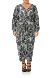 LONG SPLIT FRONT TWIST DRESS ONE TRIBE