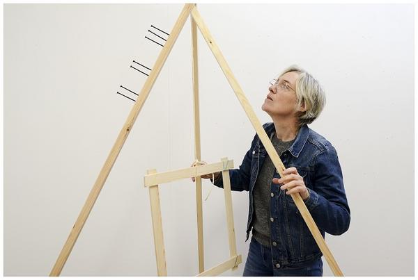 Amanda Chambers in her studio