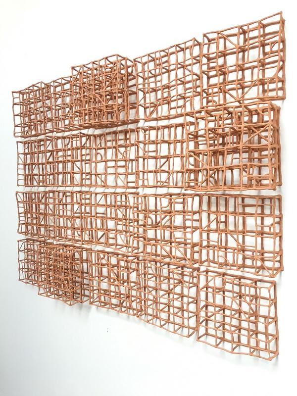 geometric ceramic artwork