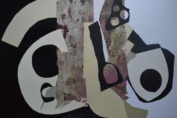 abstract collage in dark colours
