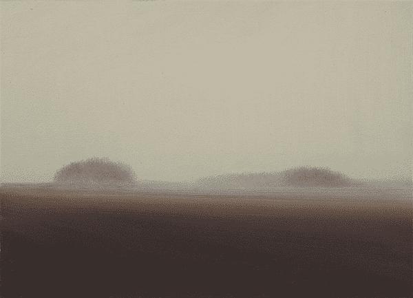 hazy painting of landscape