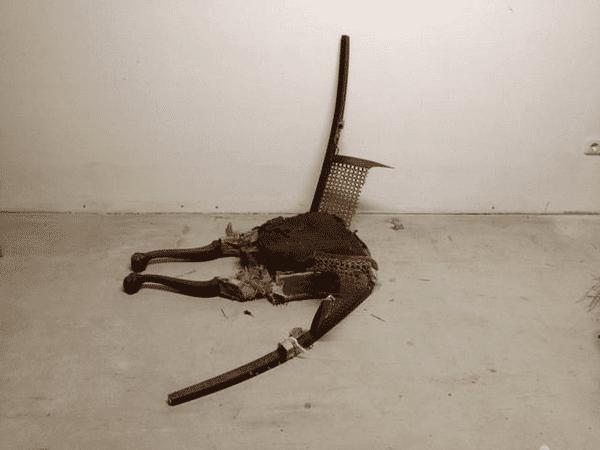 installation of broken chair