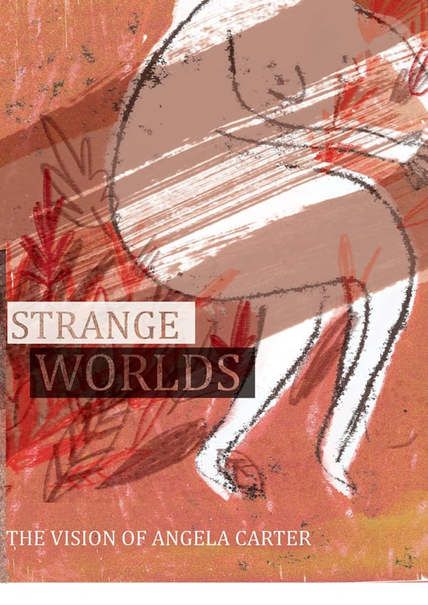 poster design for Strange Worlds exhibition by UWE Illustration student