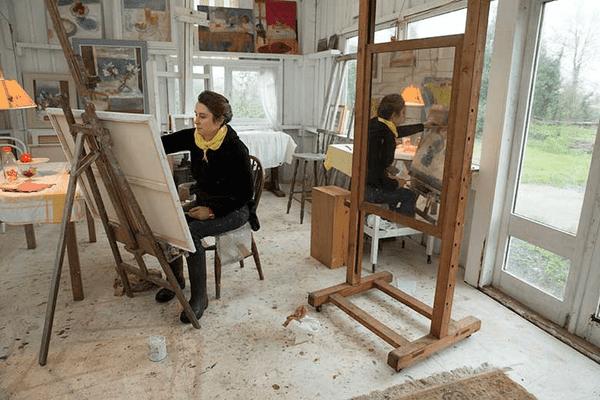 artist Alice Mumford in her studio