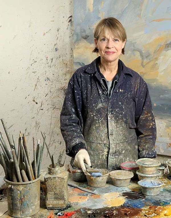 artist Louise Balaam in her studio