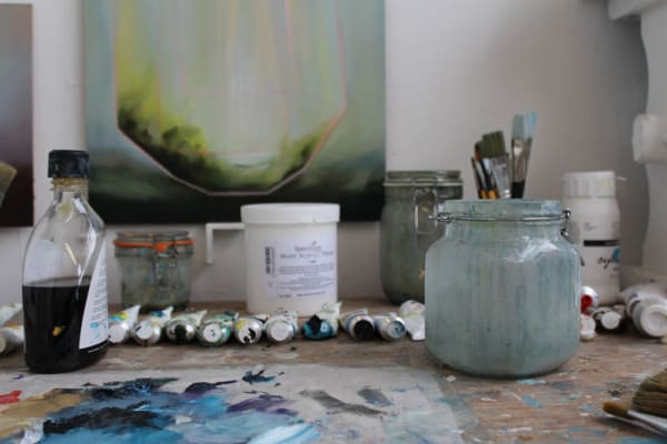 photo of a paintpot in a studio