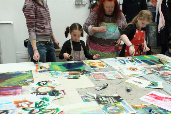 photo of child taking part in the workshop