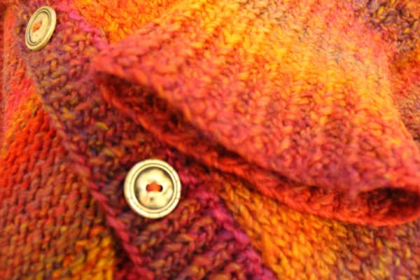 close up of a knitted item of clothing