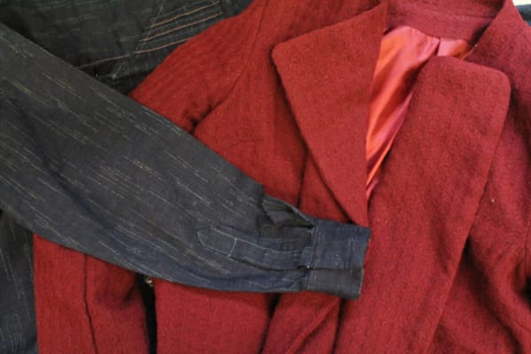 photo of the detail of some coats