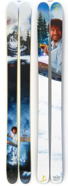 """The Allplay """"THE JOY OF SKIING"""" Bob Ross x J Collab Limited Edition Ski"""