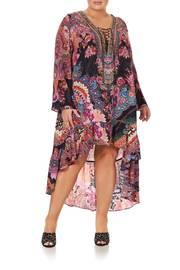 SHORT DRESS WITH HIGH LOW HEM SWINGING SIXTIES