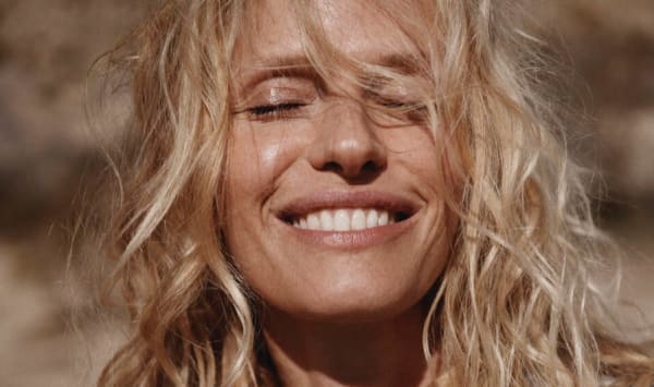 Australia model with tousled beach hair