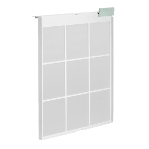 Coway Airmega 150 Dove White pre filter side view