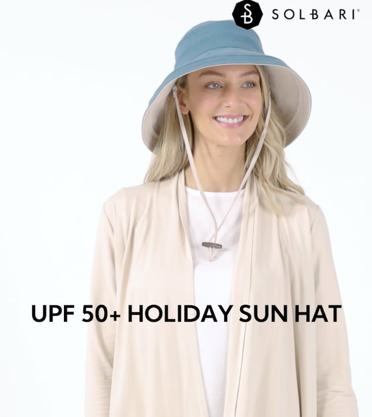 Sun Protective Wide Brim UPF50+ Holiday Sun Hat For Women