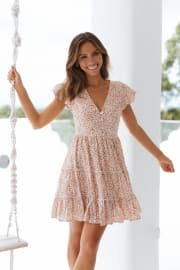 Dancer Dress - Tan