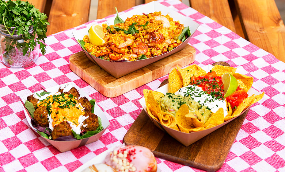 Size 100 - 15 x 11 x 4cm - Cardboard Food Tray