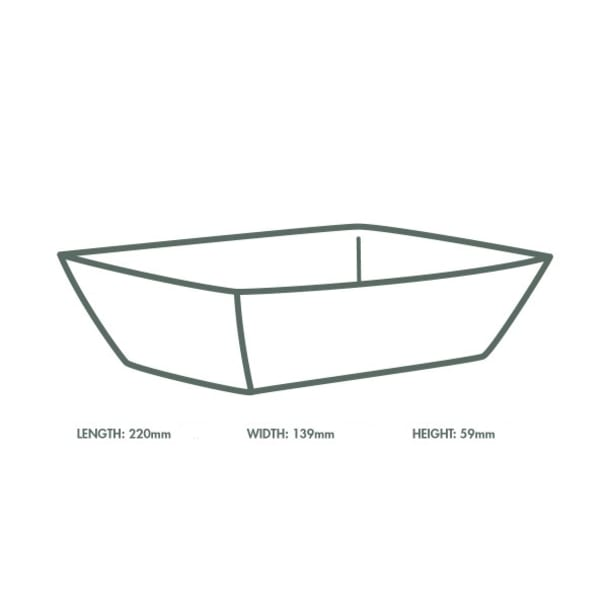 Size 500 - 25 x 18 x 6cm - Cardboard Food Tray