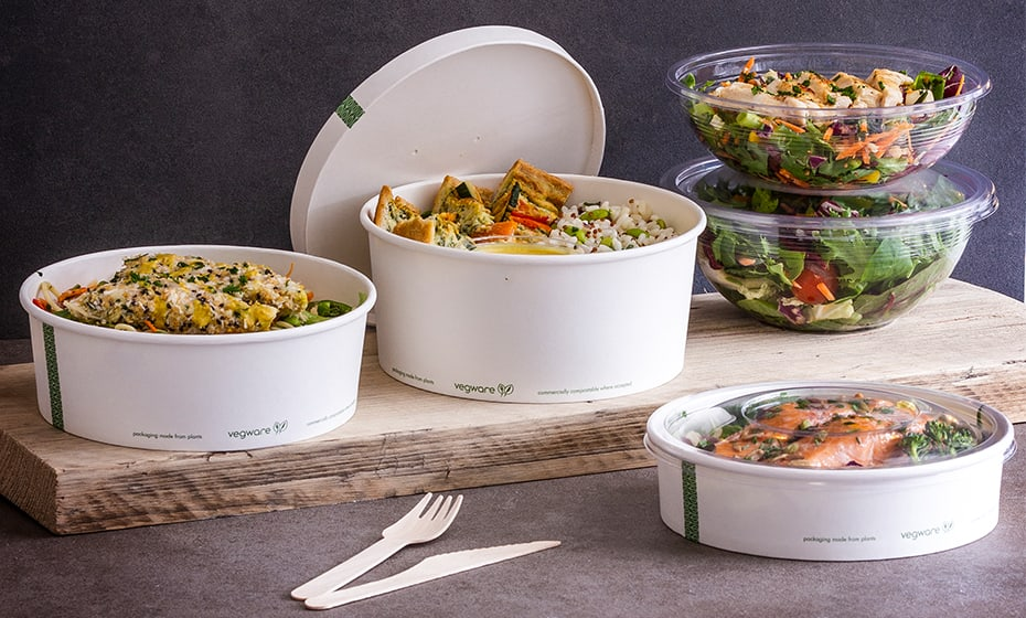 24oz (750ml) PLA Salad Bowl - Clear - 185 Series