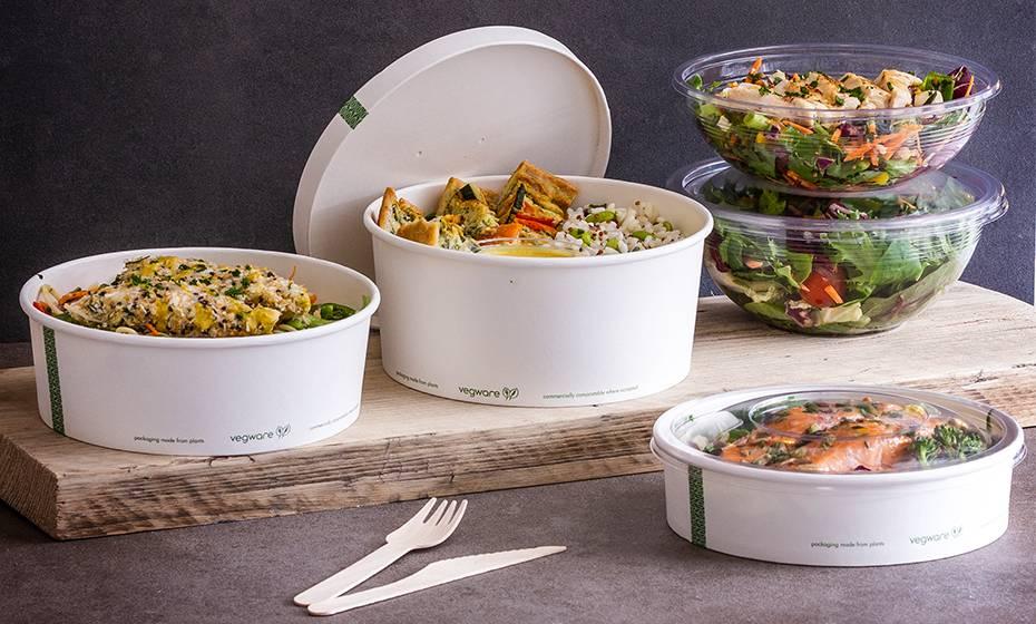 32oz (1000ml) PLA Salad Bowl - Clear - 185 Series