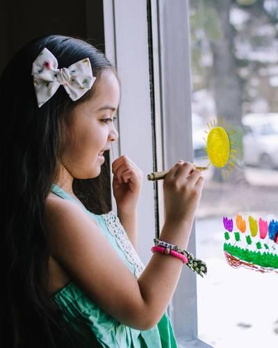 Window Art Activity For Kids