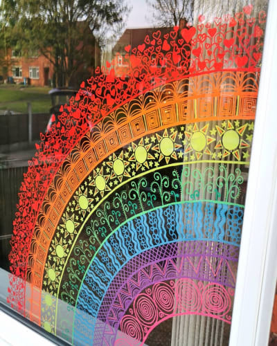 Window Chalk Art