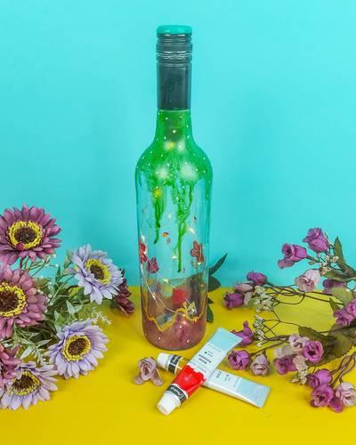 Paint bottle with acrylic paint