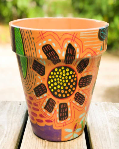 Clay Pot Painting with Acrylic Paint Marker