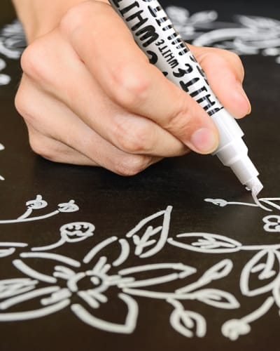 White Chalk Markers