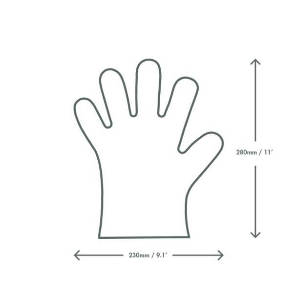 Medium Food Prep Gloves - Opaque / White