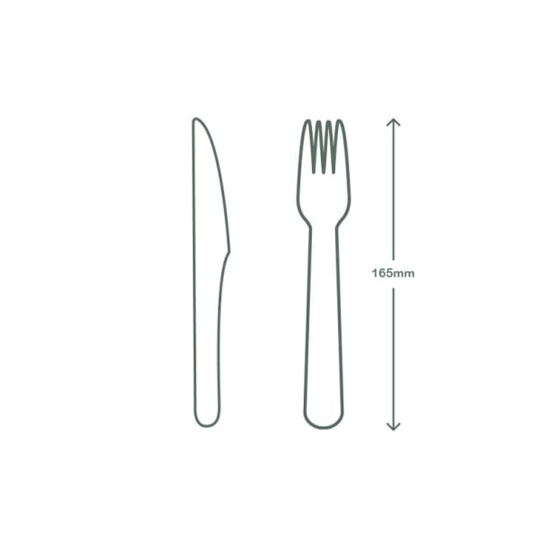 Green Cutlery Set - Knife, Fork, Napkin 16cm in bio bag