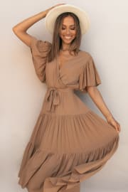 Barker Dress - Tan