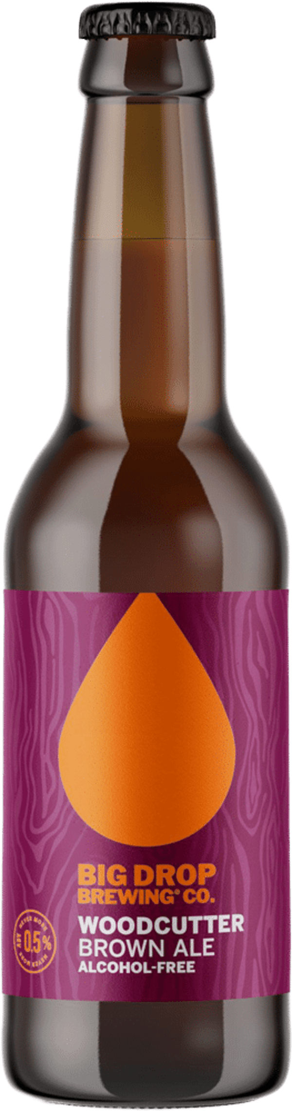 A pack image of Big Drop's Woodcutter Brown Ale