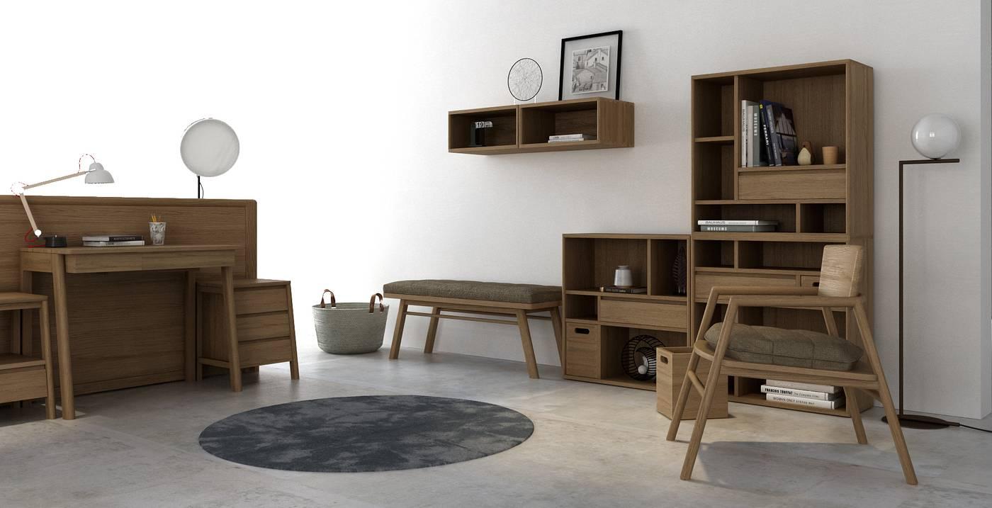 Circa Floating Cabinet Module 6  - European Oak
