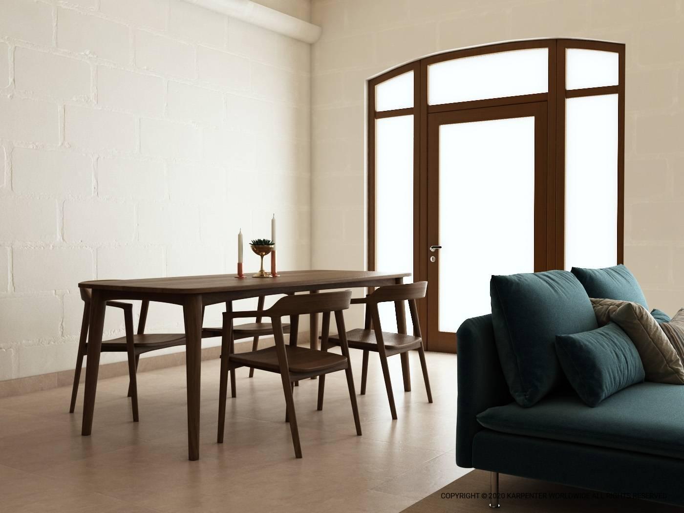 Grasshopper Rectangular Dining Table 200cm - European Oak