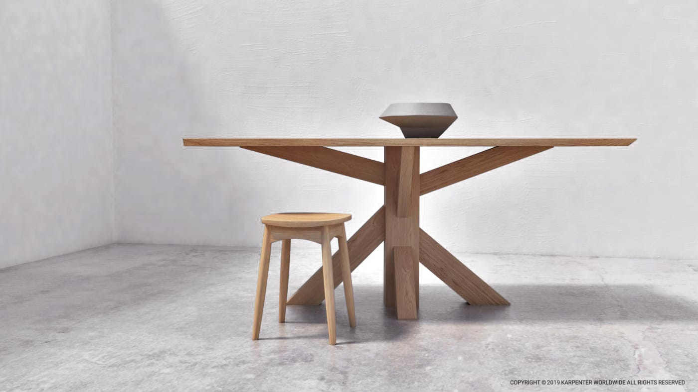 Ki Coffee Table 140cm - FSC Recycled Teak