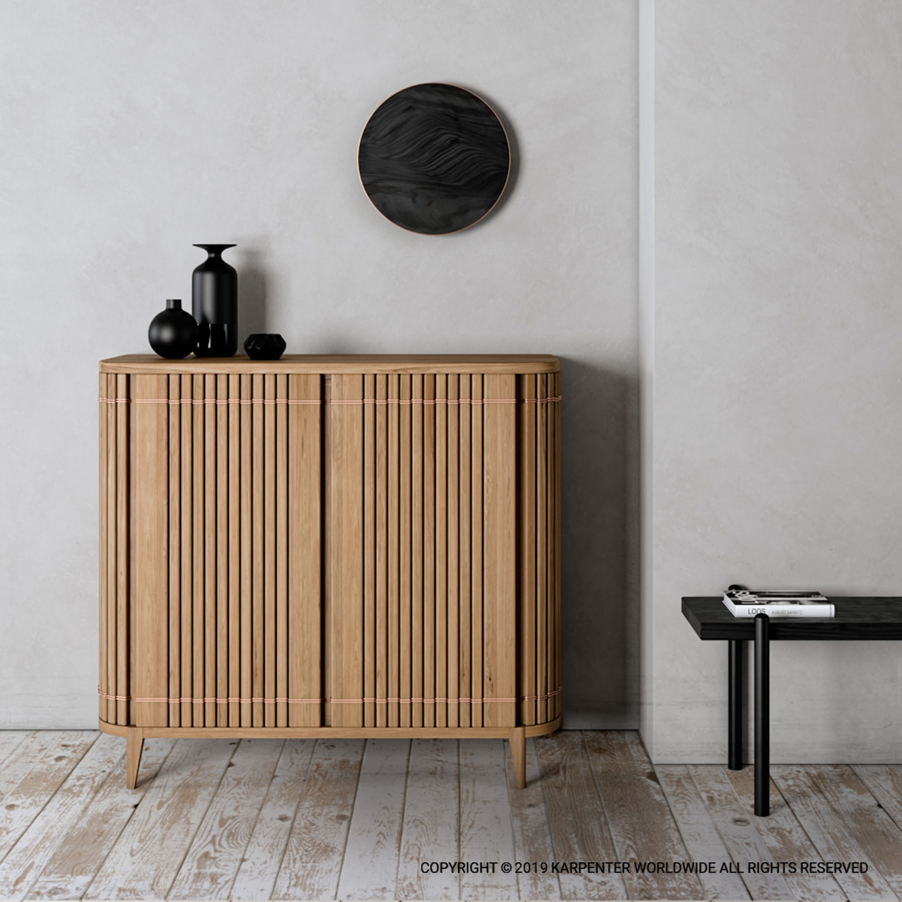 Koppar Sideboard with 2 Doors - European Oak