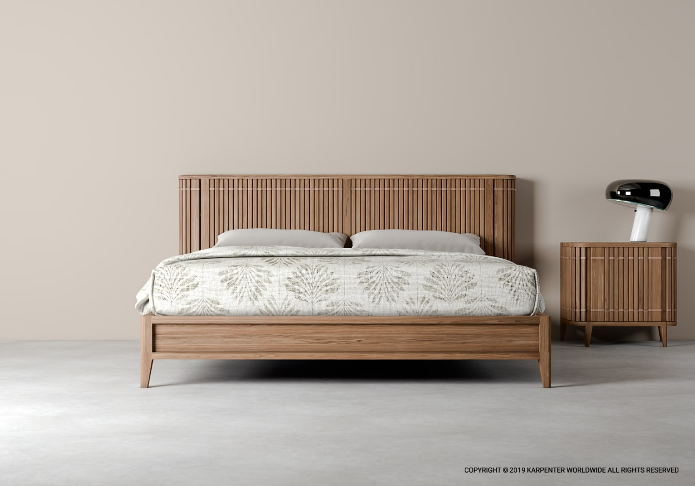 Koppar Queen Bed - FSC Recycled Teak
