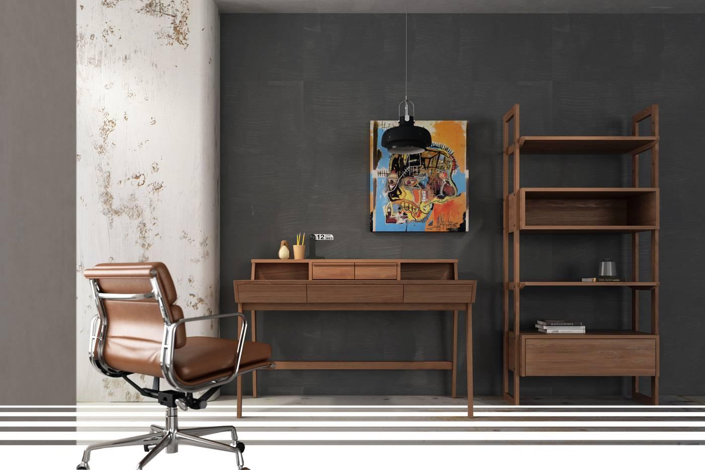 Solid Bookshelf - FSC Recycled Teak
