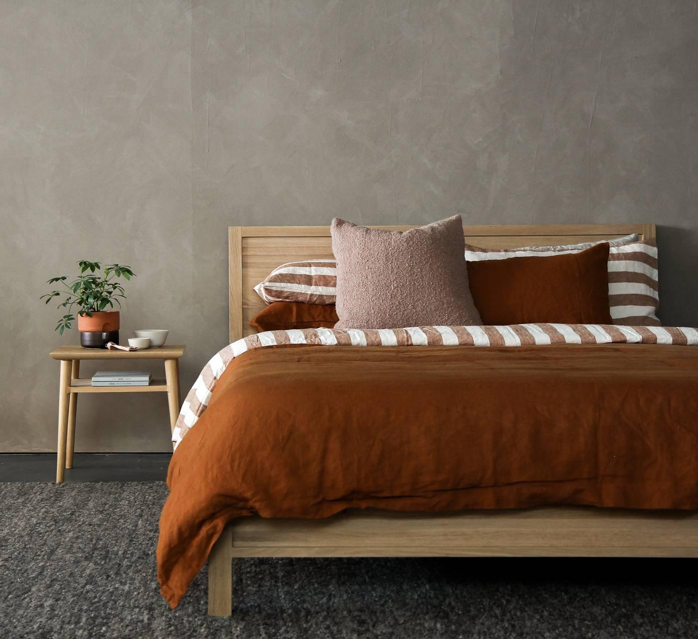 Solid Queen Bed  - European Oak